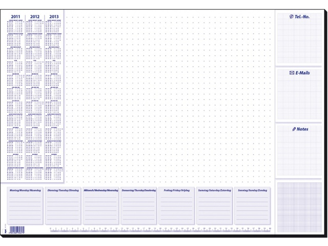 Bureauonderlegger design for Bureau kalender